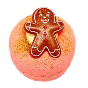 CLEARANCE! Ginger Spiced Toffee Fizzy Bath Bomb Donut VEGAN